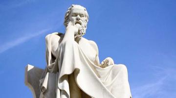 O Σωκράτης  προσευχόμενος