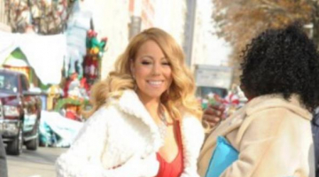 Mariah Carey Wows In Vibrant Red Dress At Thanksgiving Day Parade