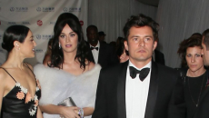 Katy Perry flirts with Orlando Bloom