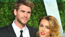 Liam Hemsworth and Miley Cyrus seen celebrating New Year together