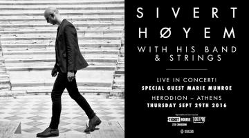 Sivert Høyem Πέμπτη 29 Σεπτεμβρίου 2016 @ Ωδείο Ηρώδου Αττικού