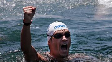 Ασημένιος ο Σπύρος Γιαννιώτης στη μαραθώνια κολύμβηση
