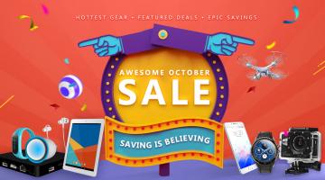 Μεγάλες προσφορές Οκτωβρίου στο GearBest
