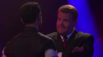 James Corden rips Star Wars and Girls in rap battle with actor Riz Ahmed… who fires back by branding Carpool Karaoke king a 'singing Uber driver'