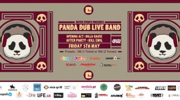 Panda Dub Live Band 5 Μαΐου @ Fuzz Live Music Club!