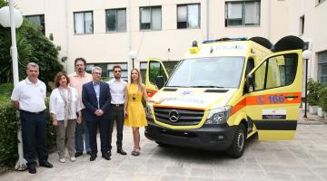 Δωρεά ενός ασθενοφόρου στο ΕΚΑΒ από το International Foundation for Greece