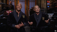 Dwayne Johnson and Tom Hanks Plan 2020 Presidential Bid in 'SNL' Season Finale Monologue