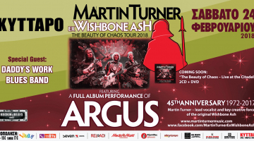 Martin Turner (Wishbone Ash) @Κύτταρο – Παρουσίαση όλου του δίσκου «ARGUS» !