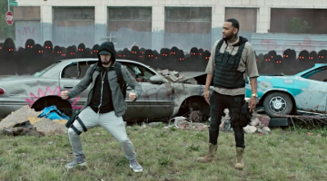 Eminem and Joyner Lucas control a shadowy army of clones in their apocalyptic 'Lucky Me' video