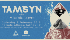 TAMSYN live @ Temple Athens | special guest: Atomic Love | Σάββατο 2 Φεβρουαρίου