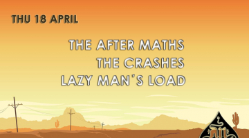 The After Maths, The Crashes και Lazy Man's Load |18.04 live στο AN Club.