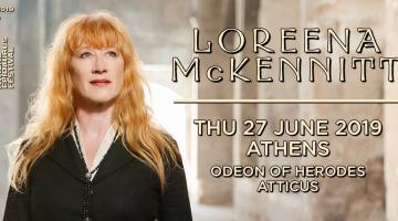 H Loreena McKennitt στην Αθήνα Πέμπτη 27 Ιουνίου 2019 Θέατρο Ηρώδου του Αττικού