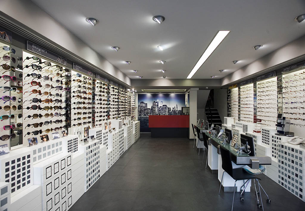 2f2cd320bc Kapolis eyewear store. Designed by Stirixis. Athens. Photo by Cathy  Cunliffe 2010