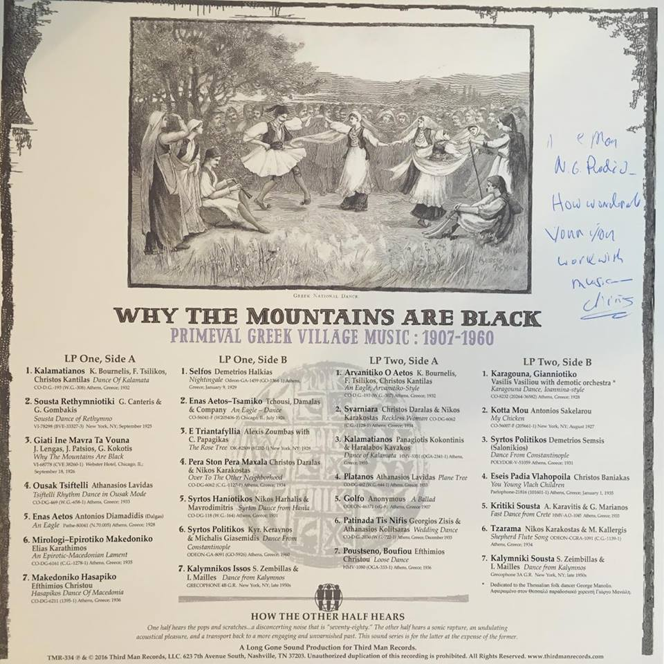 autograph - why the mountains are black