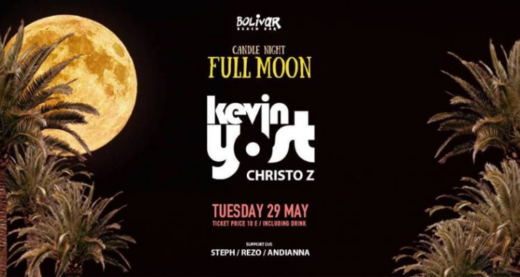 Kevin Yost – Candle Night – Full Moon Party @ Bolivar Beach Bar | 29 May