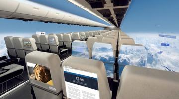 Έρχονται τα αεροπλάνα χωρίς παράθυρα!