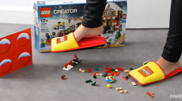 LEGO Slippers to protect us from the pain of stepping on blocks with bare feet