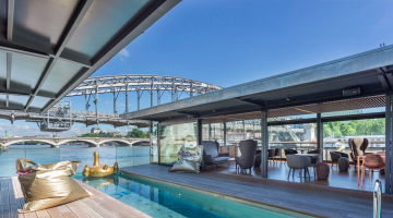 This new floating hotel in Paris is unlike anything we've ever seen