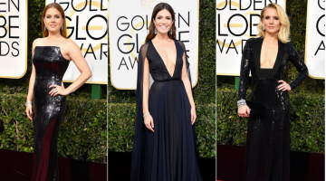 Why are actresses wearing black at the Golden Globes?