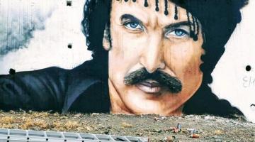 Αν επισκεφθείτε τα Ανώγεια θα δείτε αυτό το υπέροχο γκράφιτι του Νίκου Ξυλούρη