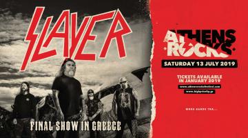 Το πρώτο AthensRocks Festival φέρνει για τελευταία φορά στην Ελλάδα τους Slayer!