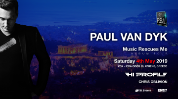 "O Paul Van Dyk έρχεται στο VOX να παρουσιάσει το νέο άλμπουμ ""Music Rescues Me"""