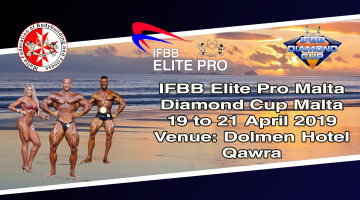 "Watch live the ""IFBB International Diamond Cup Malta & Elite Pro 2019"""