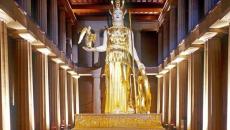 Το χρυσελεφάντινο άγαλμα της Αθηνάς στο μουσείο της Ακρόπολης