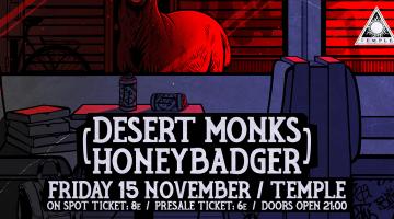 Live | Desert Monks + Honeybadger στο Temple