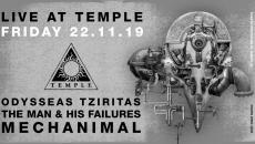 LIVE | Mechanimal + The Man & His Failures + Οδυσσέας Τζιρίτας