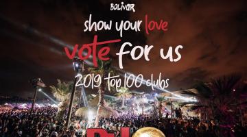 Ψηφίστε Bolivar στο διαγωνισμό του Dj Mag | TOP 100 CLUBS 2019