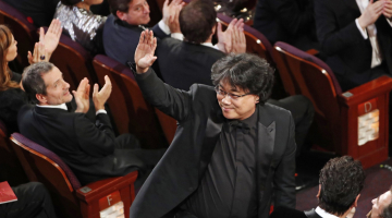'Parasite' cast and crew celebrate Oscars wins in L.A.'s Koreatown
