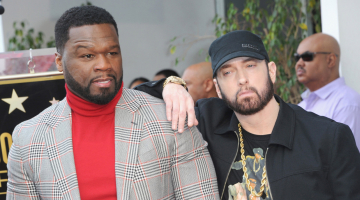 Eminem honors 50 Cent at Hollywood Walk of Fame ceremony