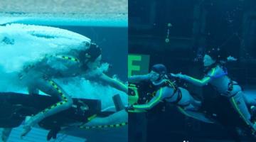 Η Κέιτ Γουίνσλετ κατέρριψε το ρεκόρ υποβρύχιου γυρίσματος