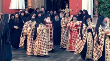 Η Μονή Βατοπαιδίου απαντά: Ελήφθησαν όλα τα υγειονομικά μέτρα στην λιτανεία κατά του κορωνοϊού