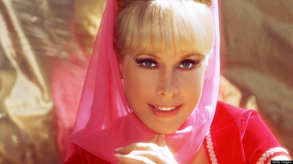 Barbara Eden, US actress, in a publicity portrait for the US television series, 'I Dream of Jeannie', USA, circa 1967. Eden starred as 'Jeannie' in the sitcom. (Photo by Silver Screen Collection/Getty Images)
