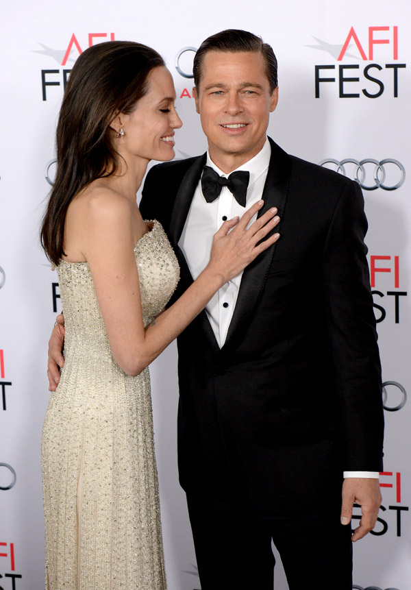 Angelina Jolie Pitt and Brad Pitt attend the AFI FEST 2015 opening Night Gala Premiere of Universal Pictures By The Sea at the TCL Chinese Theatre on November 15, 2015 in Los Angeles, CA, USA. Photo by Lionel Hahn/ABACAPRESS.COM   522856_015 Los Angeles Etats-Unis United States