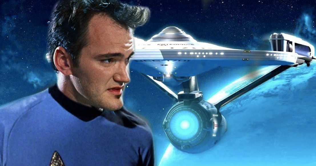 Image result for images of tarantino and star trek